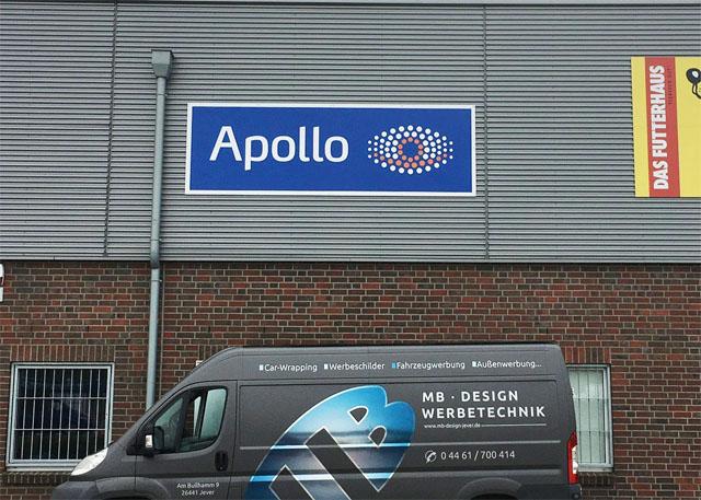 Apollo Werbeschild Schortens