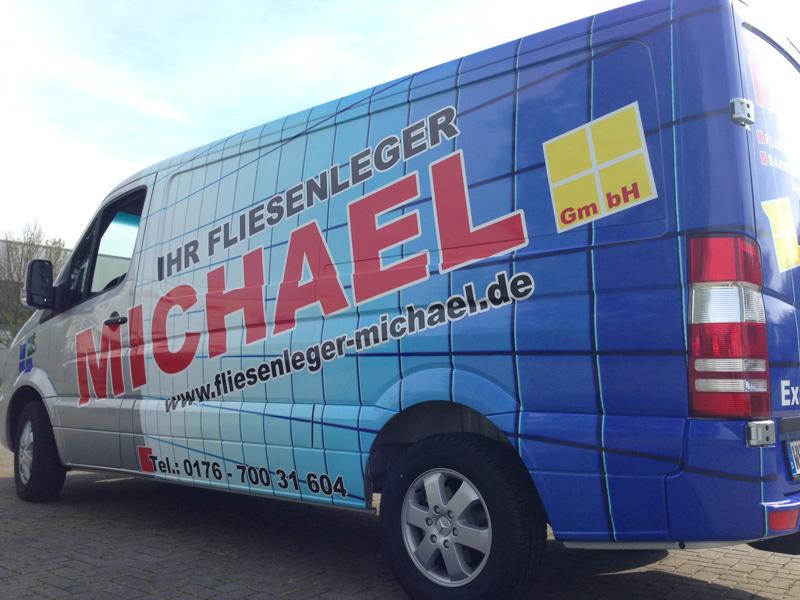 Michael Beschriftung Wilhelmshaven Fahrzeugbeschriftung