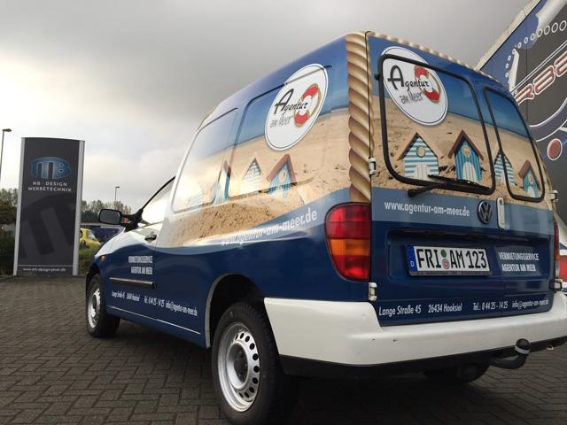 Fahrzeugbeschriftung Wangerland Agentur am Meer