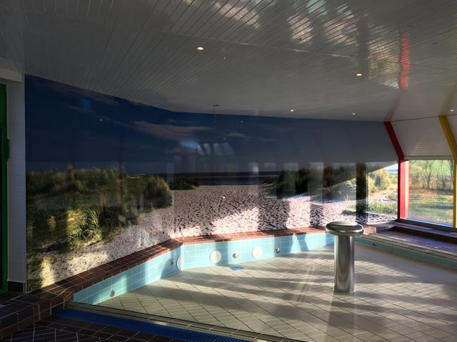 Werbeschilder Schwimmbad Hooksiel Wangerland