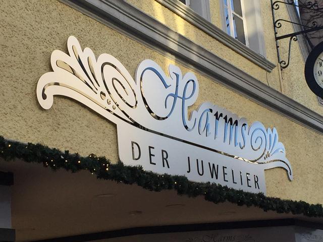 Werbeschilder Juwelier Harms Jever