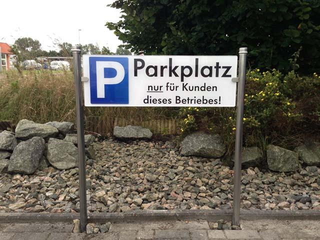 Parkplatzschild Jever